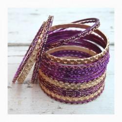 Náramky set - fialový