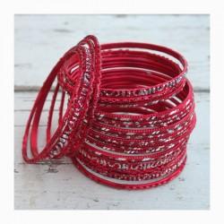 Náramky set - červený