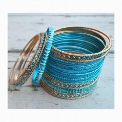 Náramky set - modrý