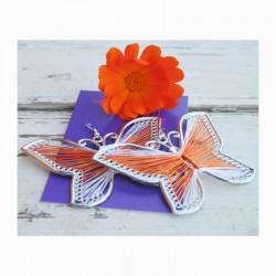 Naušnice - Motýl - nitě