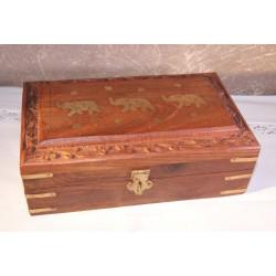 Dekorativní krabička 3 sloni