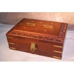 Dekorativní krabička 2 sloni