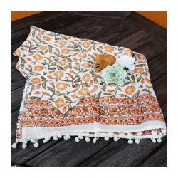 Šátek ruční tisk Jaipur