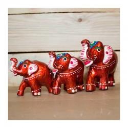 Barevný slon malý a velký