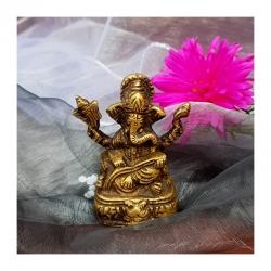 Ganesh na trůnu - mosaz